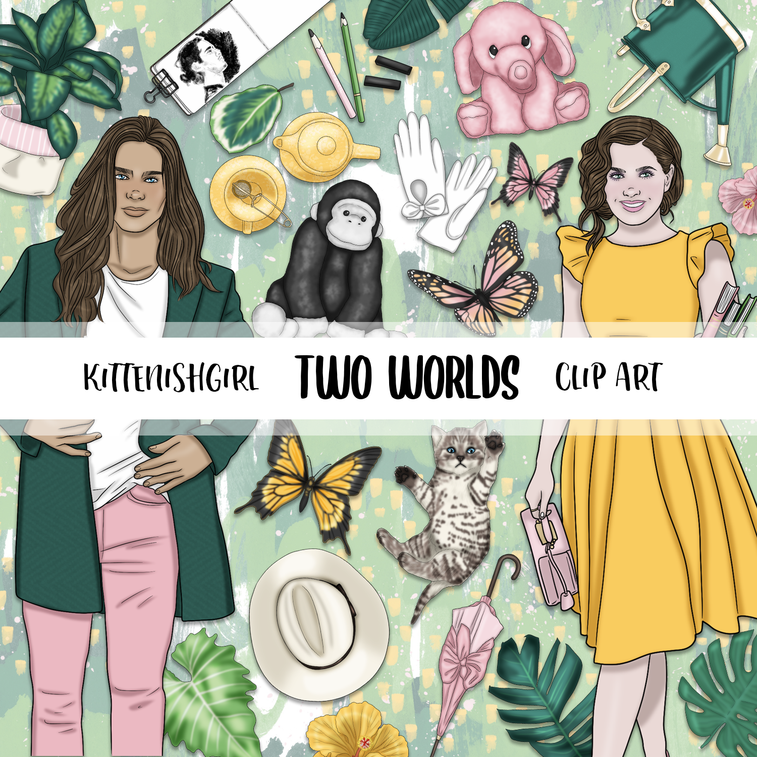 Two Worlds // Clip Art