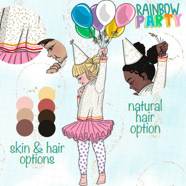 Clip Art - Rainbow Party