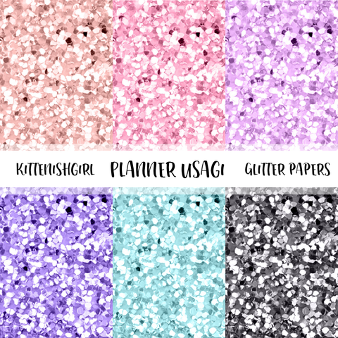 Planner Usagi // Glitter Digital Papers