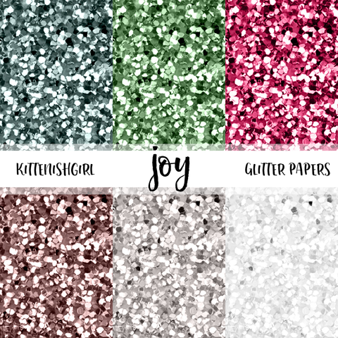 Joy // Glitter Digital Papers