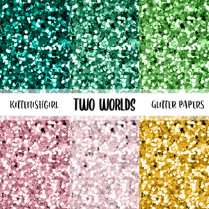 Two World // Glitter Digital Papers