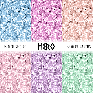 Hero // Glitter Digital Papers