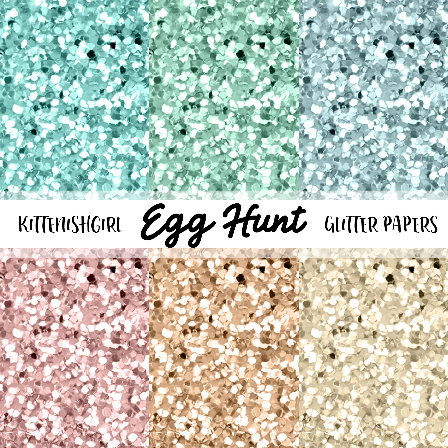 Egg Hunt // Glitter Digital Papers
