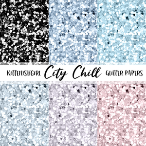 Glitter Digital Papers - City Chill