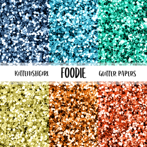 Foodie // Glitter Digital Papers