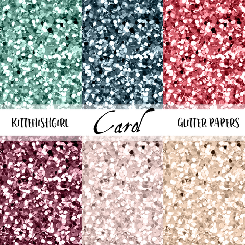 Carol // Glitter Digital Papers