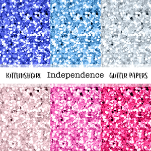 Independence // Glitter Digital Papers