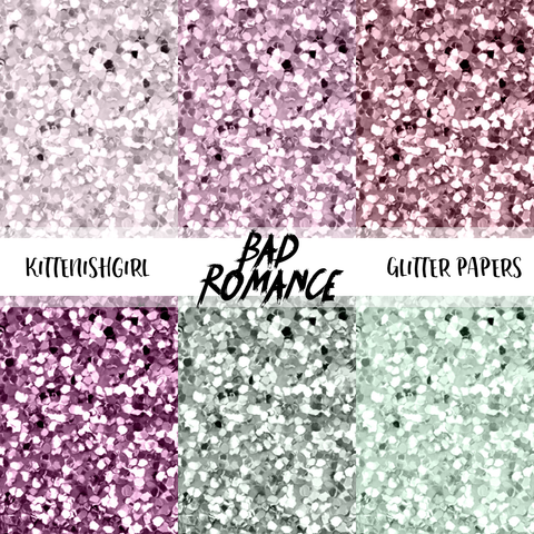 Bad Romance // Glitter Digital Papers