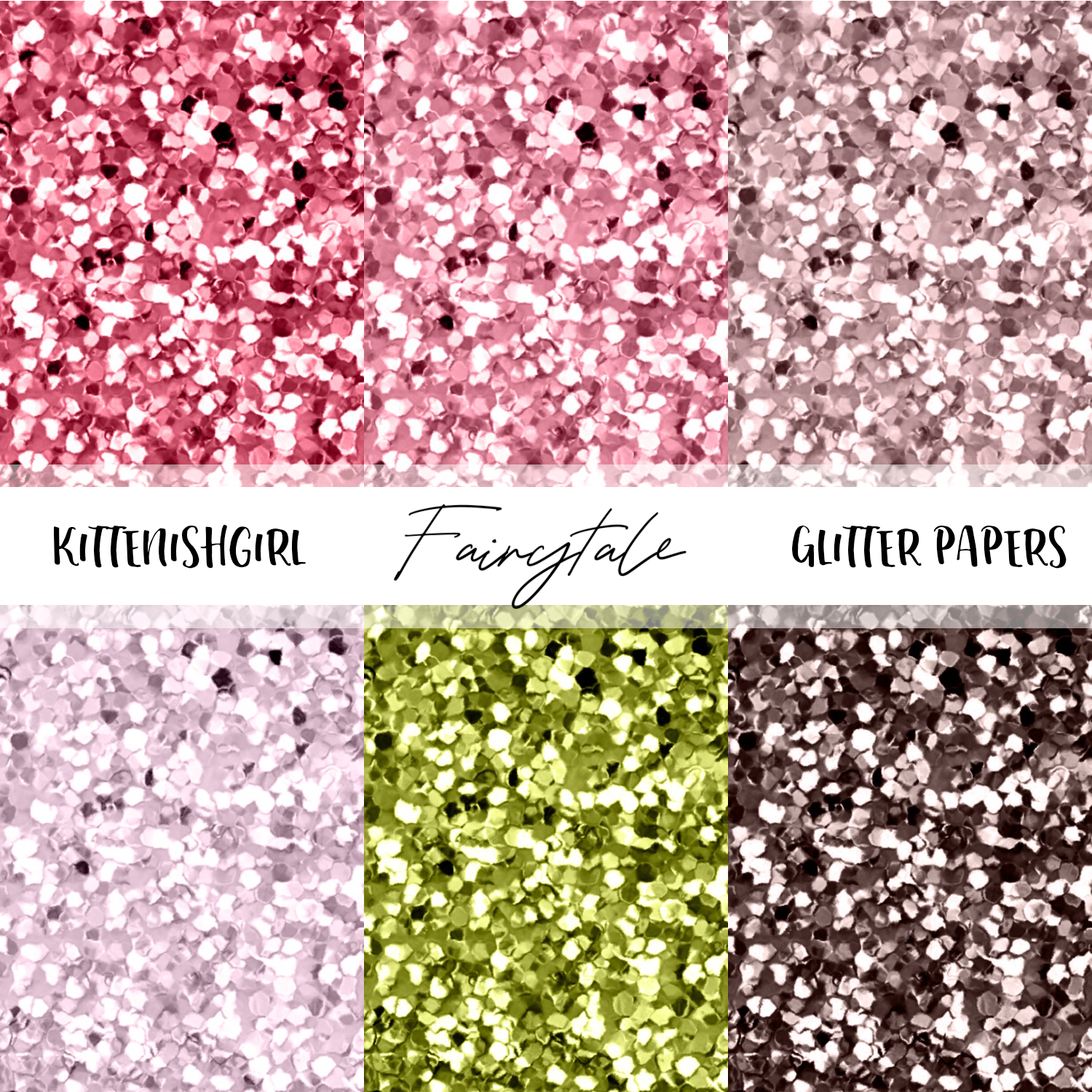 Fairytale // Glitter Digital Papers