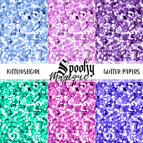 Spooky Magique // Glitter Digital Papers