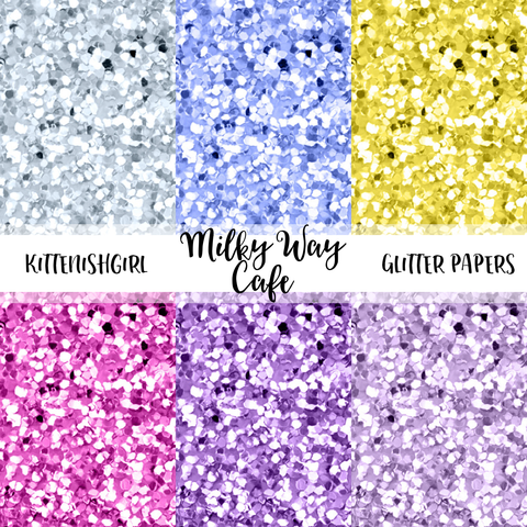 Milky Way Cafe // Glitter Digital Papers