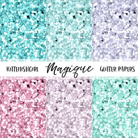Magique // Glitter Digital Papers