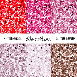 Be Mine // Glitter Digital Papers