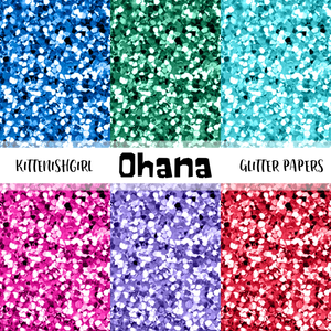 Ohana // Glitter Digital Papers