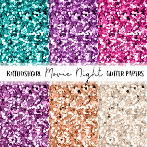 Movie Night // Glitter Digital Papers