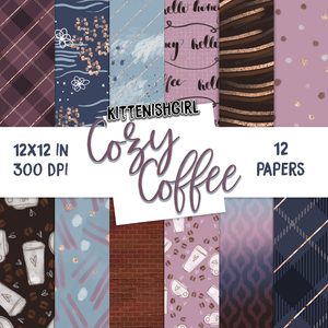 Digital Papers - Cozy Coffee