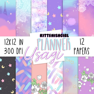 Planner Usagi // Digital Papers