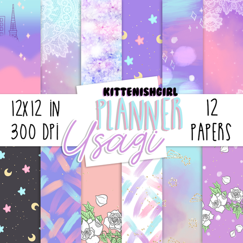 Digital Papers - Planner Usagi