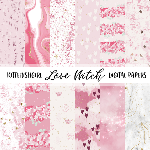 Love Witch // Digital Papers