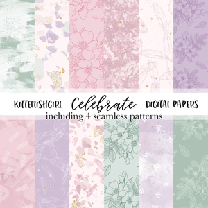 Celebrate // Digital Papers