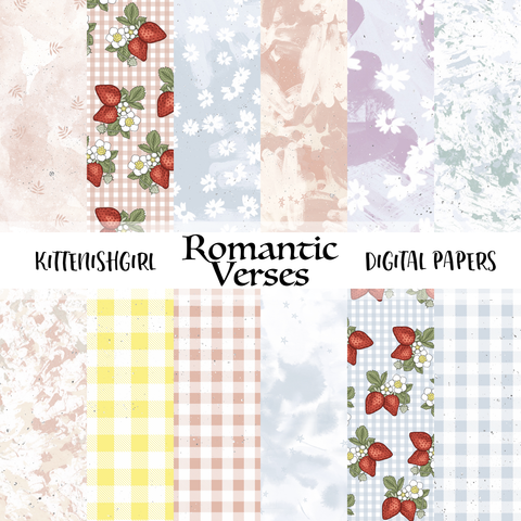 Romantic Verses // Digital Papers