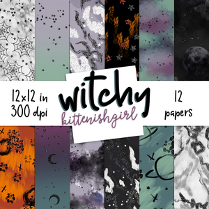 Digital Papers - Witchy