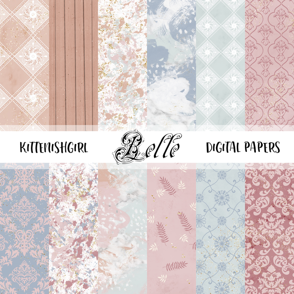 Belle // Digital Papers