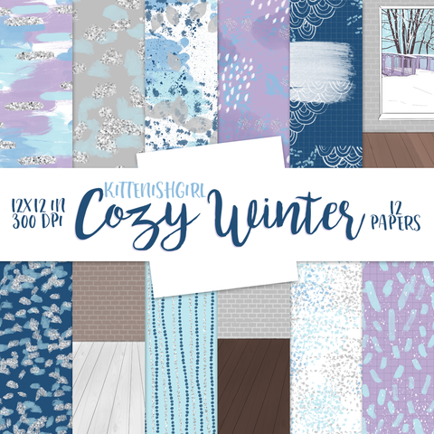 Digital Papers - Cozy Winter