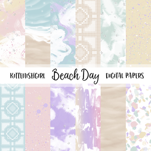 Beach Day // Digital Papers