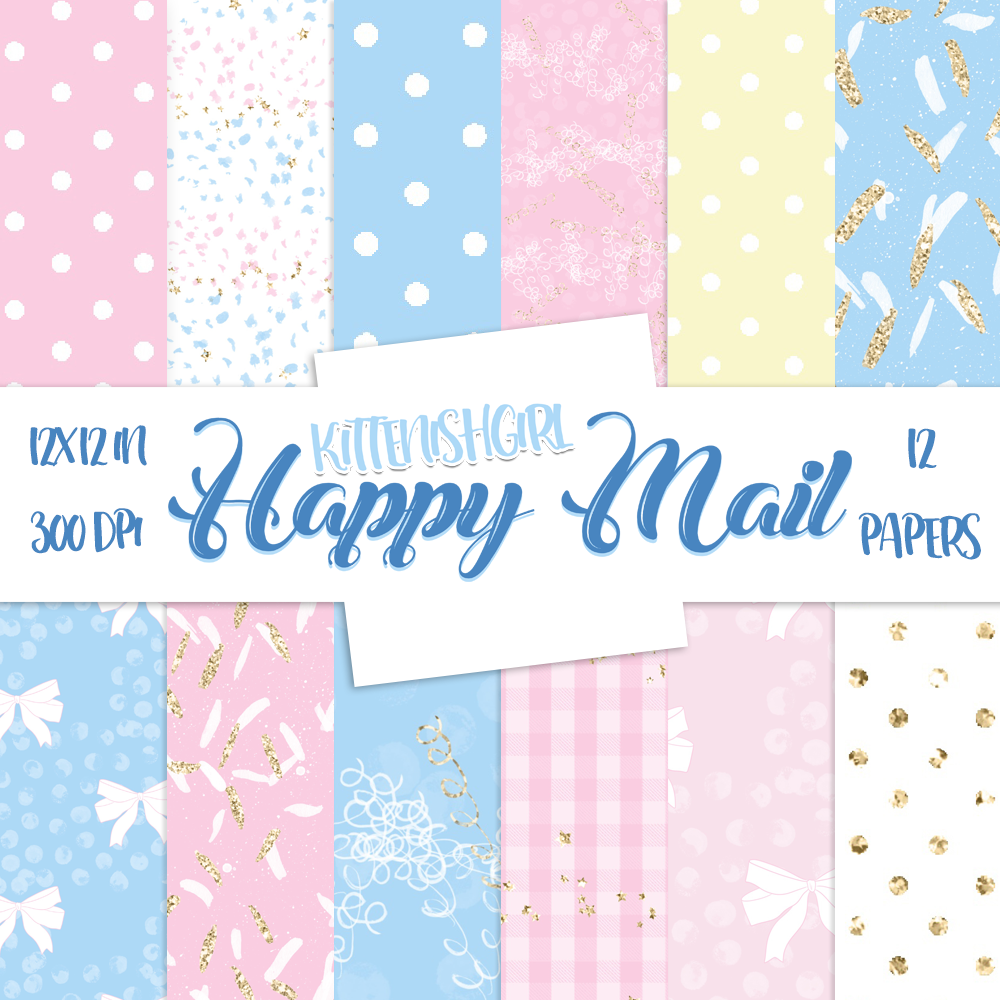 Digital Papers - Happy Mail