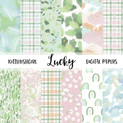 Lucky // Digital Papers