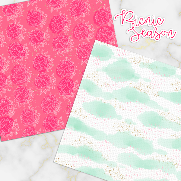 Digital Papers - Picnic Season