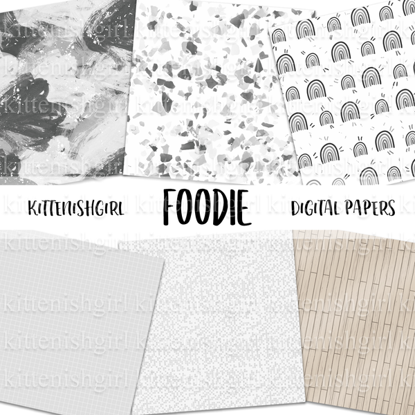 Foodie // Digital Papers