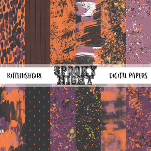 Spooky Night // Digital Papers
