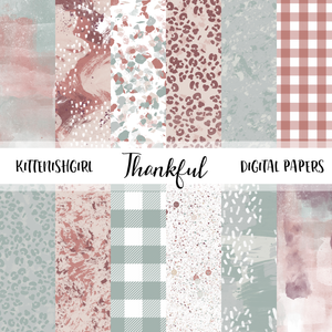 Thankful // Digital Papers