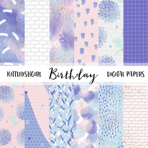 Birthday // Digital Papers