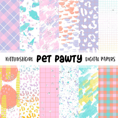 Pet Pawty // Digital Papers