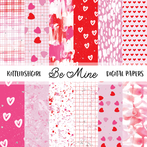 Be Mine // Digital Papers