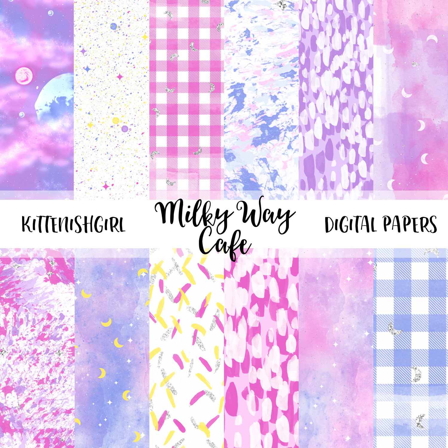 Milky Way Cafe // Digital Papers
