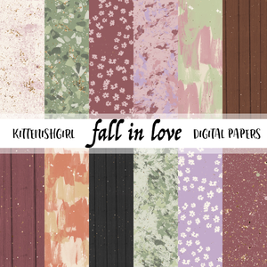 Fall In Love // Digital Papers