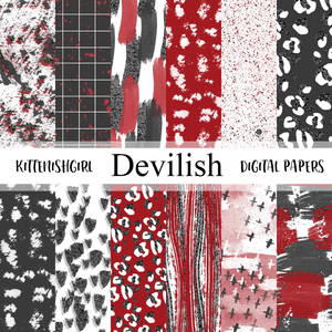 Devilish // Digital Papers