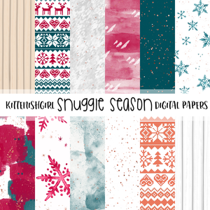 Snuggle Season // Digital Papers