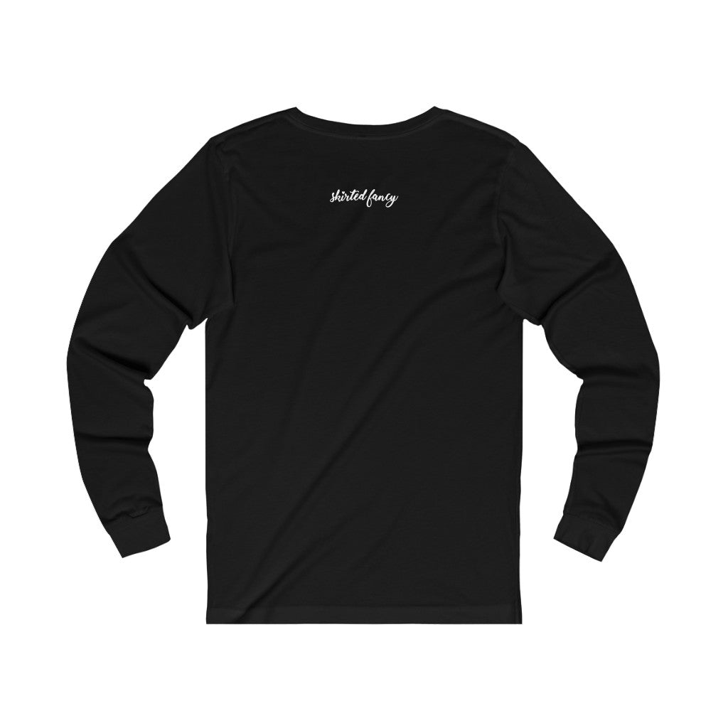 This is my fancy t-shirt. (black) Unisex Jersey Long Sleeve Tee