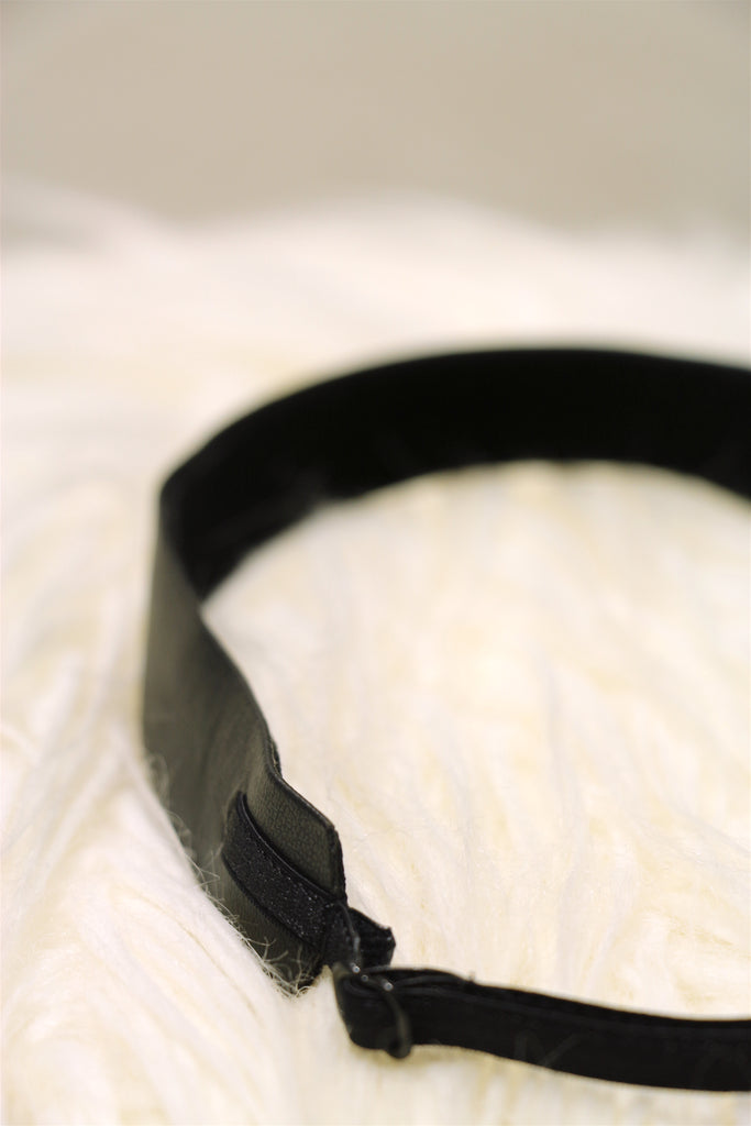 Velvet & Vegan Leather Reversible, Adjustable Headbands in a Variety of Colors