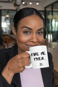 Black Women Mug| Black Woman Cup| Black Woman Holding White Mug