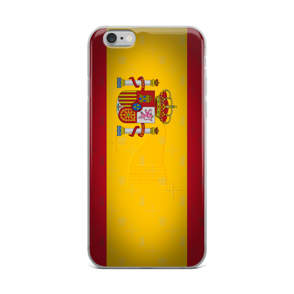 This picture show the zoom of Spain Flag | Accessories for iPhone | iPhone Case