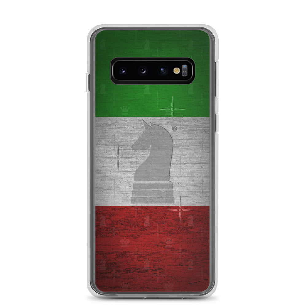 This picture show the zoom of Italy Flag Metal Look | Accessories for Samsung | Samsung Case