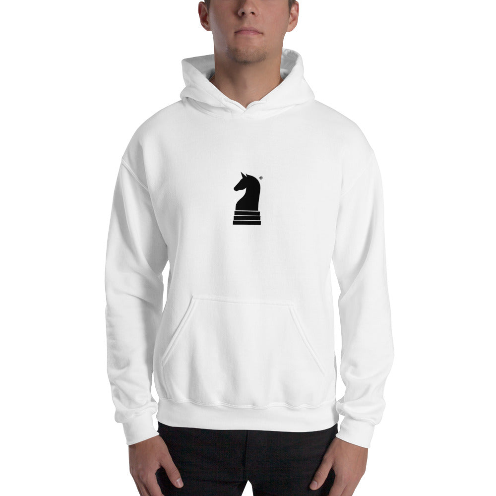 This picture show the zoom of Logo Small, Classic Black | Men's Casual Wear | Hooded Sweatshirt