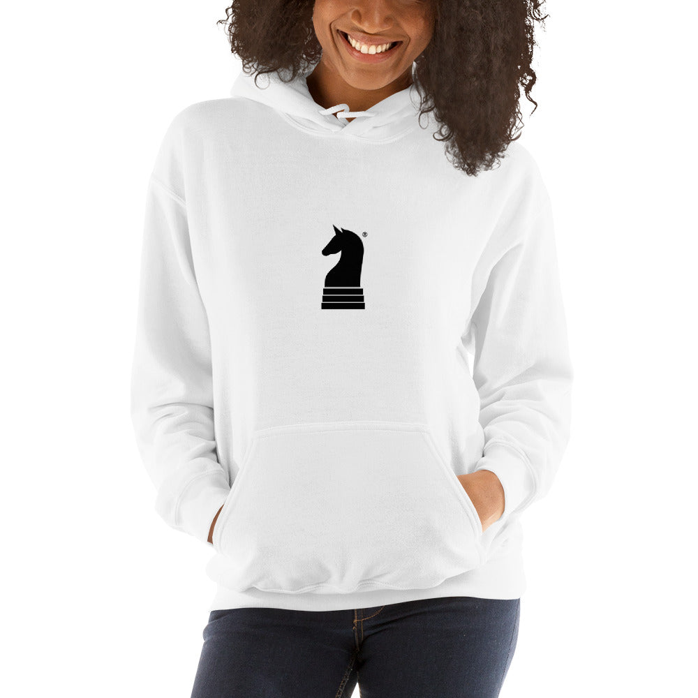 This picture show the zoom of Logo Small, Classic Black | Women's Casual Wear | Hooded Sweatshirt