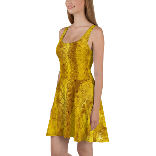 Python Gold | Women's Dresses | Skater Dress